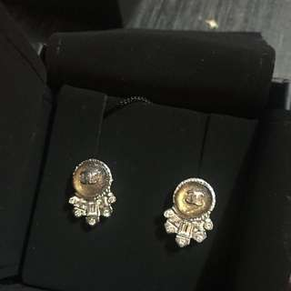 Chanel earrings 耳環 水鑽