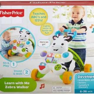 Fischer Price Baby Zebra walker Brand New (1500.00 only. Original price 3,100.00)