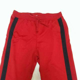 Zara Red Track Pants