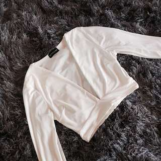 Postage Incl - White Crop Top