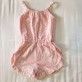 Pastel Pink Little Girl Jumpsuits