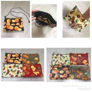 Fruity clutch/sling/shoulder/pouches for Chinese New Year.