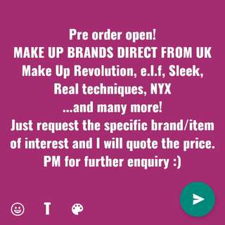 Pre order make up from UK