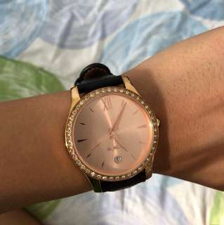 Mimco Rose Gold Leather Watch