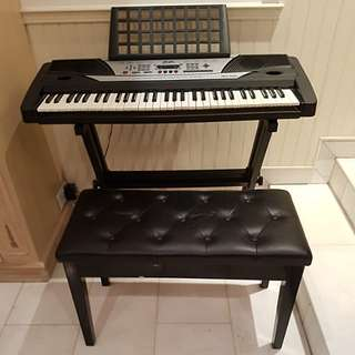 Keyboard with bench