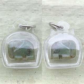 ($58) - Thai Amulet - Chang Elephant Pendant - Lp Tem - Thai Amulets