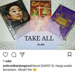 Buku novel jual murah aja