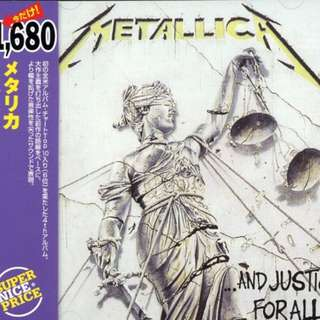 Vg+ Metallica japanese press and justice for all cd metal