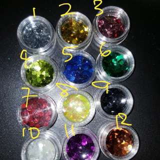 Hexagonal glitters