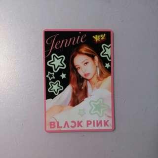 blackpink jennie 絕版夜光卡