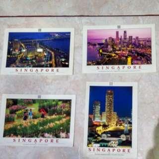 Kondisi baru!! Post card Singapore 1 set isi 4pcs harga tertera untuk 1 set