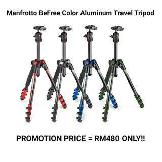 Manfrotto Befree Color Aluminum Travel Tripod