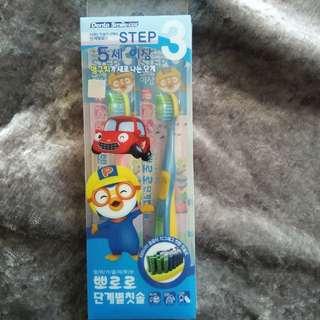 [韓國直送] pororo 兒童牙刷(5歲)兩枝