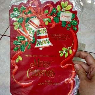 Kondisi baru!! Kartu ucapan natal lonceng