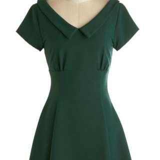 Modcloth Convivial Celebration Green Dress S
