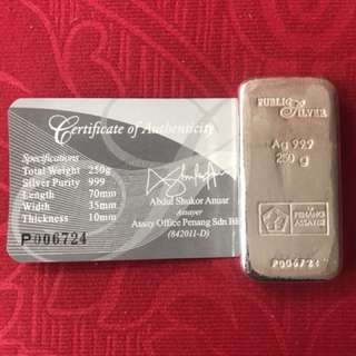 250gram silver by public gold