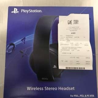 PlayStation4 無線立體聲耳機 9成新