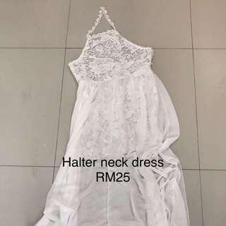 Halter neck long dress