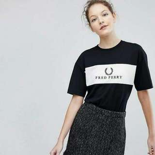 Fred Perry Sports Authentic Embroidered Panel Tee