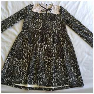 Maternity Wear 1 - Lace Dress (long sleeve)