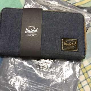 Herschel long denim wallet