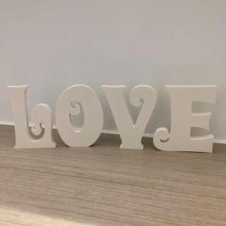 最後少量 全新 12cm LOVE 白色字母擺件 裝飾 佈置 Wedding 婚禮用品 結婚 婚宴