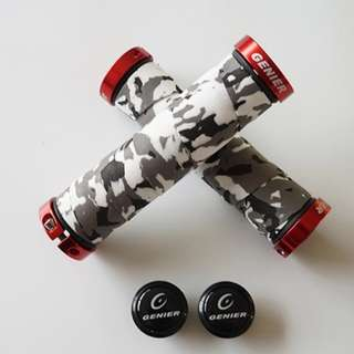 🆕! Camouflage Bar Tape Grey Lock Grips    #OK