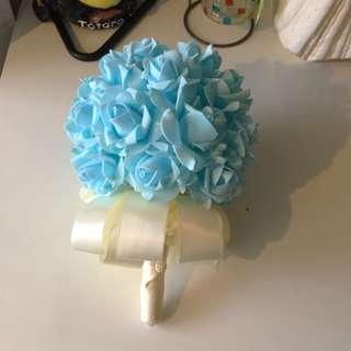 Fancy  bridal Rose Bouquet , uniquet color # blue bridal bouquet # cherry pink bridal bouquet # romance purple bridal bouquet