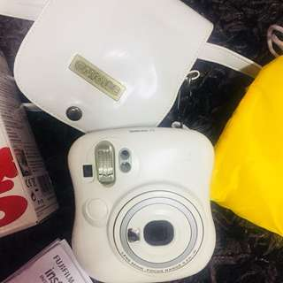 Fujifilm Instax mini 25 white polaroid instant camera