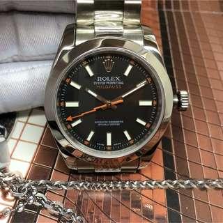 腕錶吧 見面交收 Rolex Milgauss 116400GV 40mm 116400 黑面