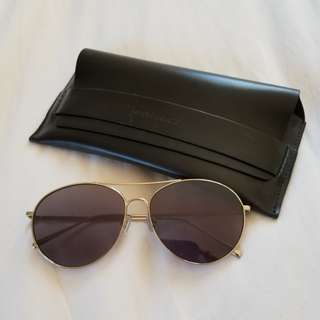 GENTLE MONSTER Ranny Ring Aviators with dark brown reflective lens