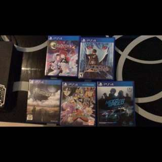 PS4 Games for sale.. $25 per game , take all 5 for $100