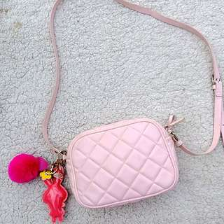 Forever 21 baby pink bag