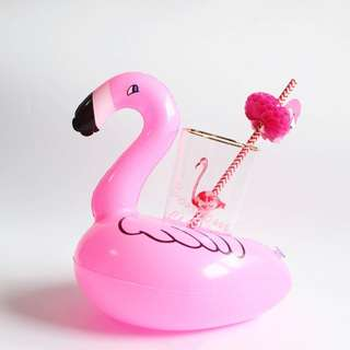 Brand New Super Cute Ulzzang Inflatable Flamingo Drinks Holder / Decor Mini Floats (Beer Beach Party Swan Paddling Pool Blow Up Pink Lake Home Cute Fun Bikini Staycation Vacation Villa Doughnut Float Pink Coke Theme 1st Dessert Table)