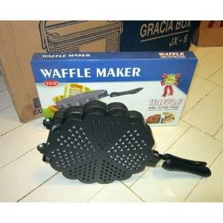 Pembuat Wafel Anti Lengket Bentuk Hati [Love] Waffle Maker Pan