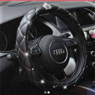leather diamond steering wheel dad garson black soft