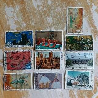 日本郵票 大型已銷郵票 10枚A