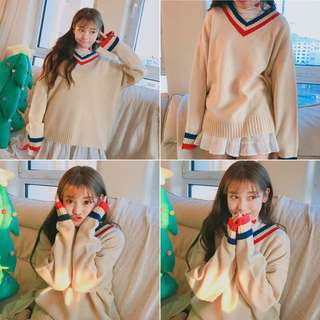 INSTOCK ULZZANG KNITTED PULLOVER