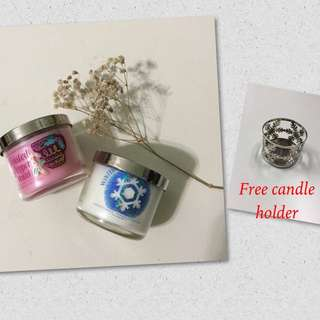 Bath and body works Scented Candle Set