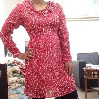 Dress pink polkadot