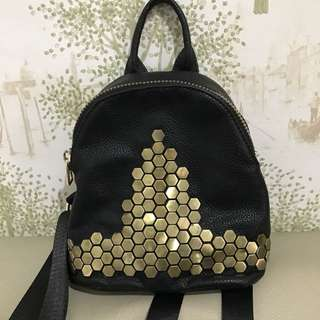 PRELOVED mini golden backpack