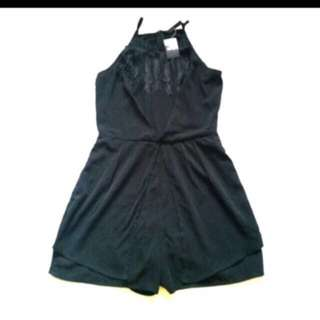 Mini jumpsuit with tags