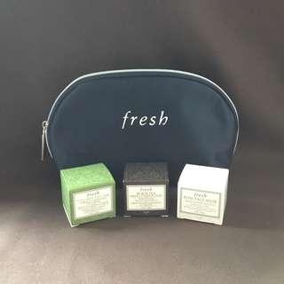 Fresh Mini Mask Trio Set + Cosmetics Pouch