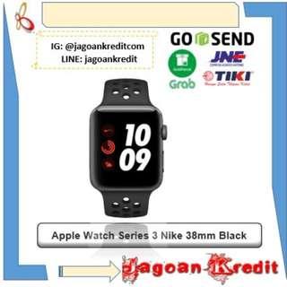 Apple Watch Series 3 Nike 38mm Black - Bisa Kredit dan Cash