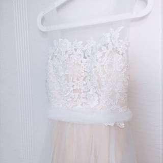 輕婚紗 森系 lace 雙肩 背心 婚服 PW pre wedding