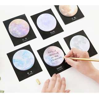 (Buy 5 Get 1 Free) Planet Sticky Note
