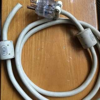MIT power cable, 如圖,不完整。美國制