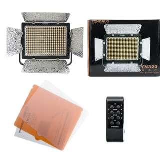 Yongnuo YN320 LED Video Light Bi color or Daylight with U-type Bracket
