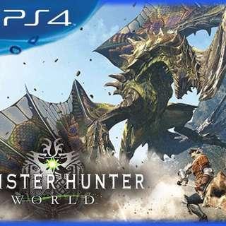 PREORDER for Monster Hunter PS4