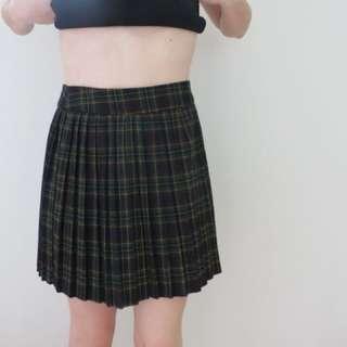 mini plaid skirt pleated